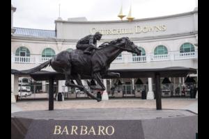 Church Hill Downs statue Horse