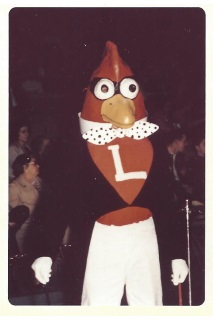 Inconclusive but thought to be pic of Cardinal mascot in late 50's thru early 60's